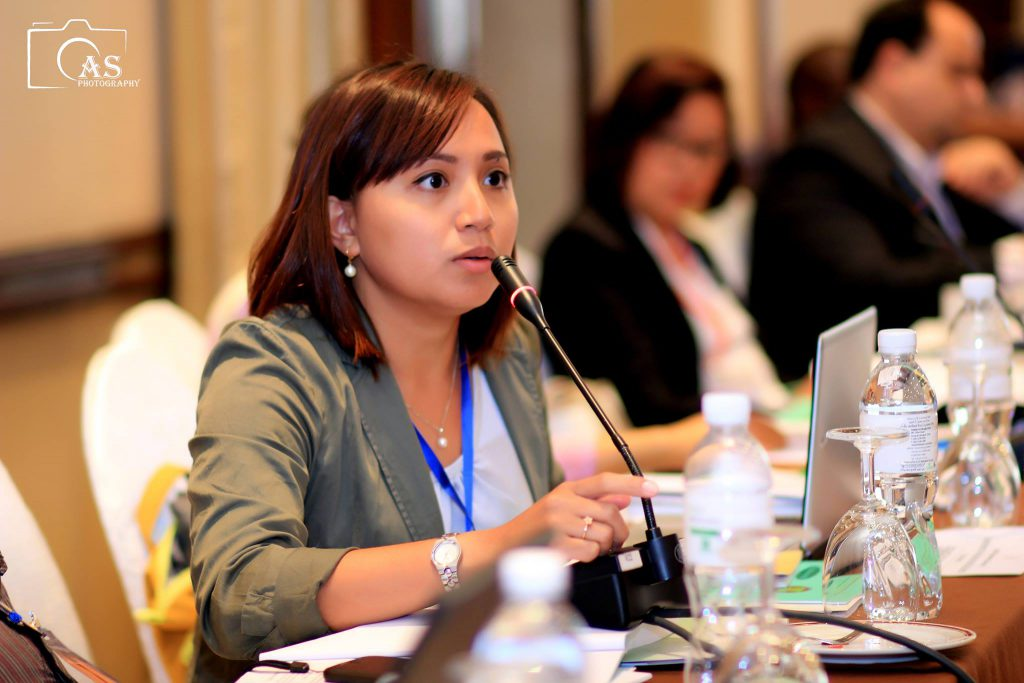Photo: Maria in Bangkok in March 2016, at the ASEAN civil society consultations on the Regional Plans of Action (RPAs) on the Elimination of Violence against Women and Children (EVAWC)