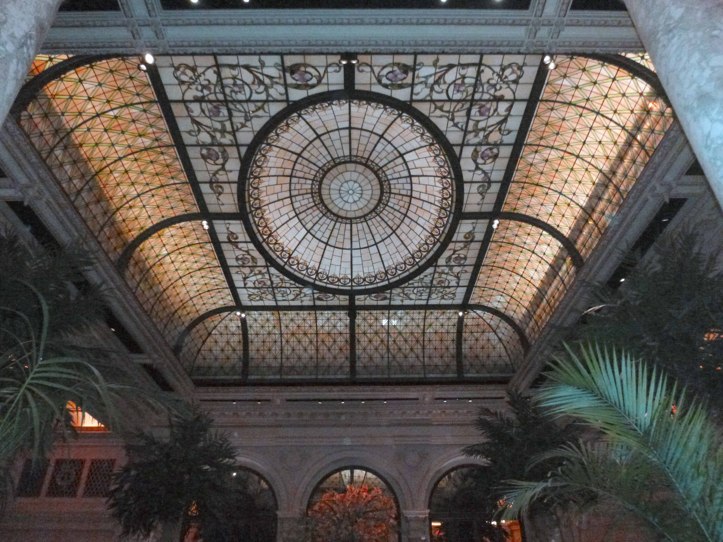 Palm Court at the Plaza hotel.