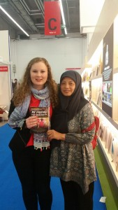Monash University MITS student, Courtney Reid with Pangestu Ningsih, the CEO of Noura Books