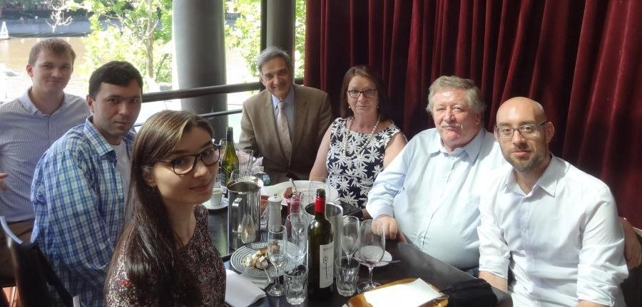 Victor and Maria Rudewych meet Rudewych scholars and postdoctoral fellow