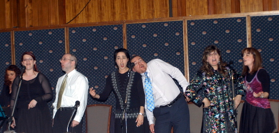 """A Klezmer performance at """"A Celebration of Yiddish"""", an event organised by the Australian Centre for Jewish Civilisation on 16 October 2004"""