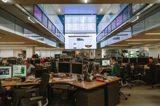 The Wall Street Journal newsroom's digital hub - Journalism study tour