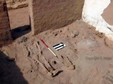Upper burials in Room 2 with ceramic artefacts associated.
