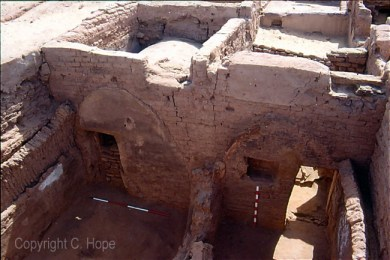 A view of two northern rooms in House 4, looking south.
