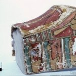 Kellis 1 cemetery: decorated cartonnage (feet covering) of the early Roman period.