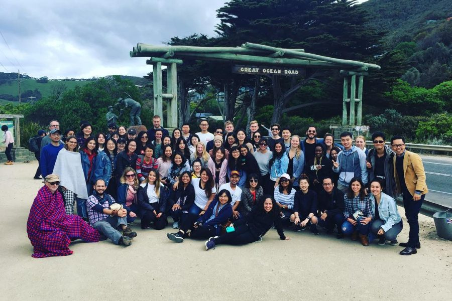 Master of International Sustainable Tourism Management students explore the Great Ocean Road