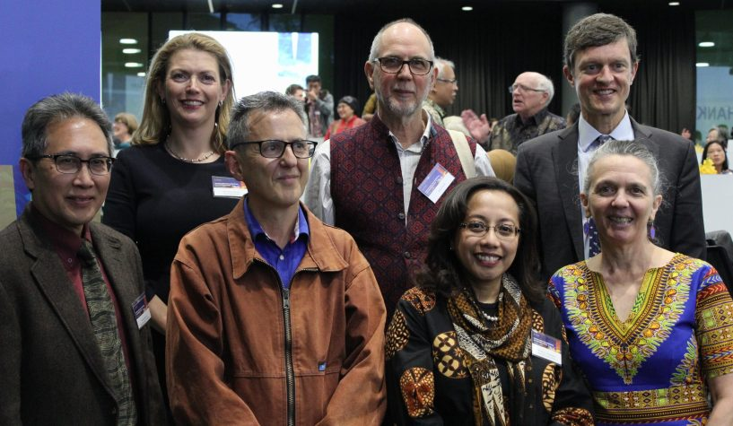 L-R (back row): Professor Sharon Pickering, David Feith, Professor Marc Parlange; L-R (front row): Professor Ariel Heryanto, Rob Feith, Ibu Spica Tutuhatunewa, Annie Feith