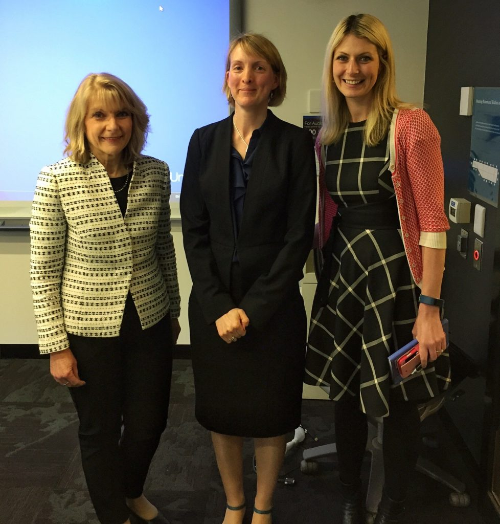 Dr Allegra Schermuly with PhD supervisors Dr Helen Forbes-Mewett and Dr Asher Flynn
